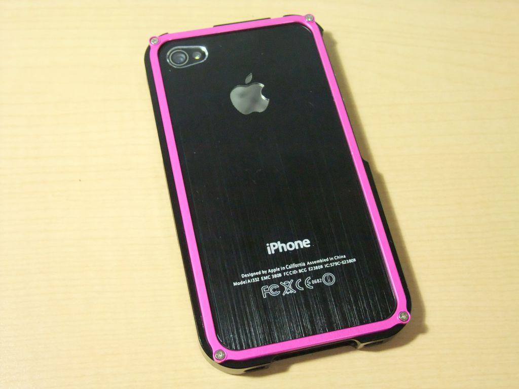iPhoneケースをナウいアルミバンパーにしてみました BLADE Premium metal case for iPhone4