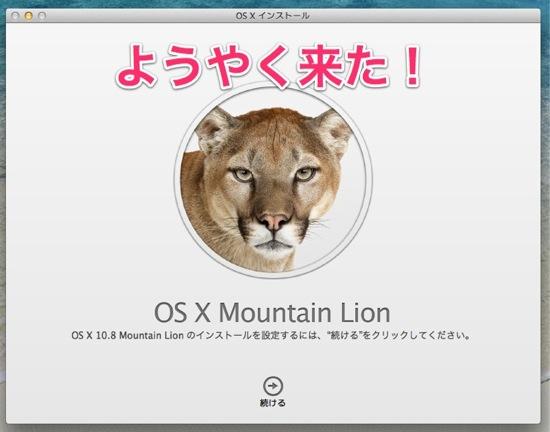 OS X インストール